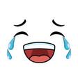 laugh emoji face icon vector image