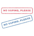 No vaping please textile stamps vector image