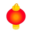 Red chinese lantern icon isometric 3d style vector image