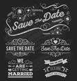 Set of save the date typography frame vector image