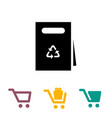 shopping bag and cart icons vector image