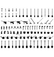 silhouettes of garden tools vector image