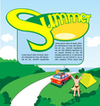 Summer travel print and banner design vector image