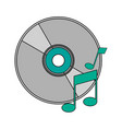 white background with music compact disc vector image