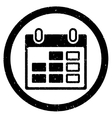 Calendar Week Rounded Grainy Icon vector image