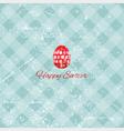 Grunge Easter background vector image