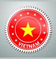 Vietnamese flag label vector image vector image