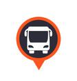 bus icon on mark vector image