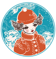 Winter doll vector image vector image