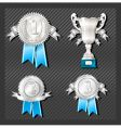 medals and cup vector image vector image