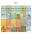 2016 Calendar Set vector image vector image