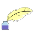 feather and ink vector image vector image
