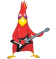 Funny Parrot Rock Star vector image