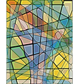 Mosaic hand vector image