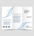 business tri fold brochure design blue corporate vector image