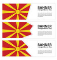 macedonia flag banners collection independence day vector image