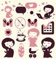 Maternity cartoon icons vector image