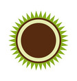 organic label emblem template image vector image