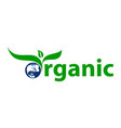 organic letter vector image