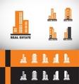 Real estate building skyscraper logo vector image