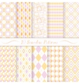 Set of ten seamless retro patterns vector image
