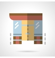 Storefronts flat color icon Supermarket vector image