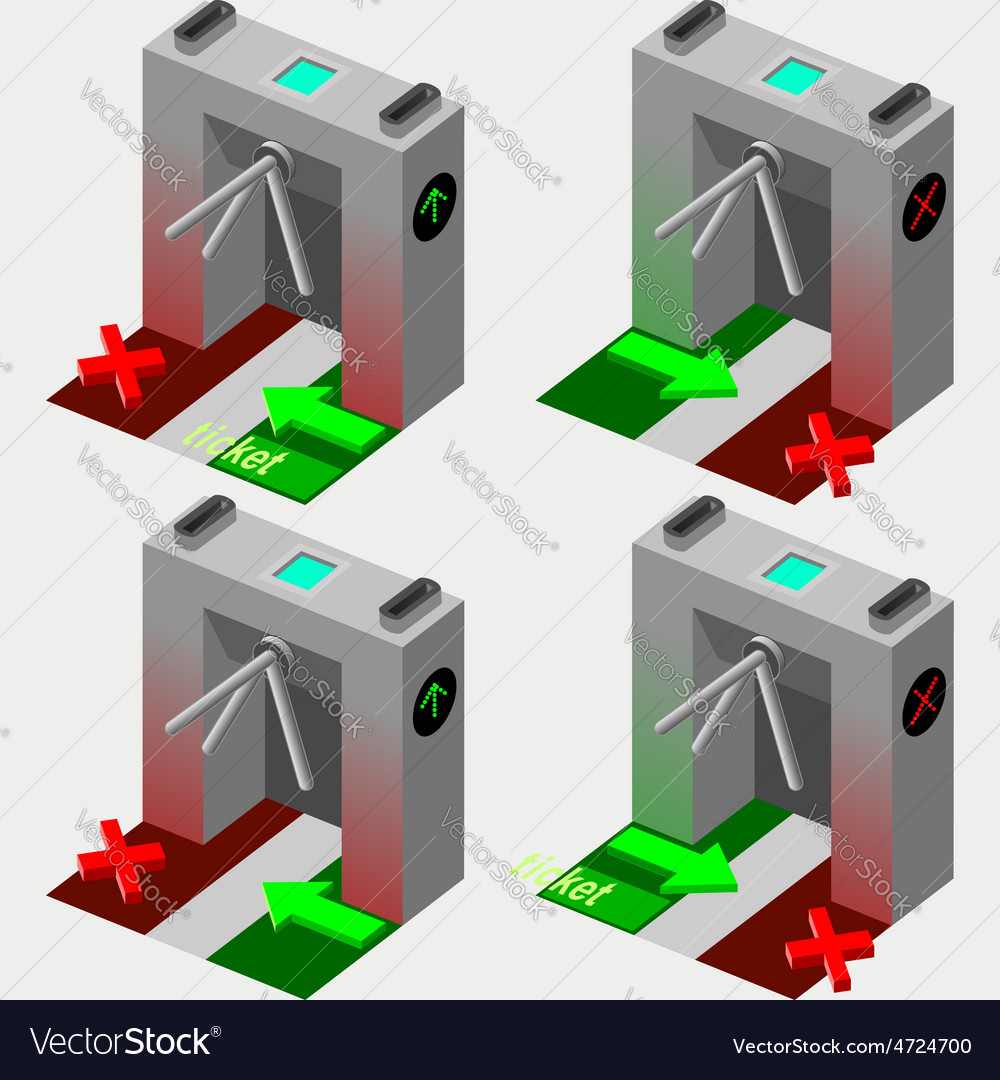 Isometric tripod gate vector