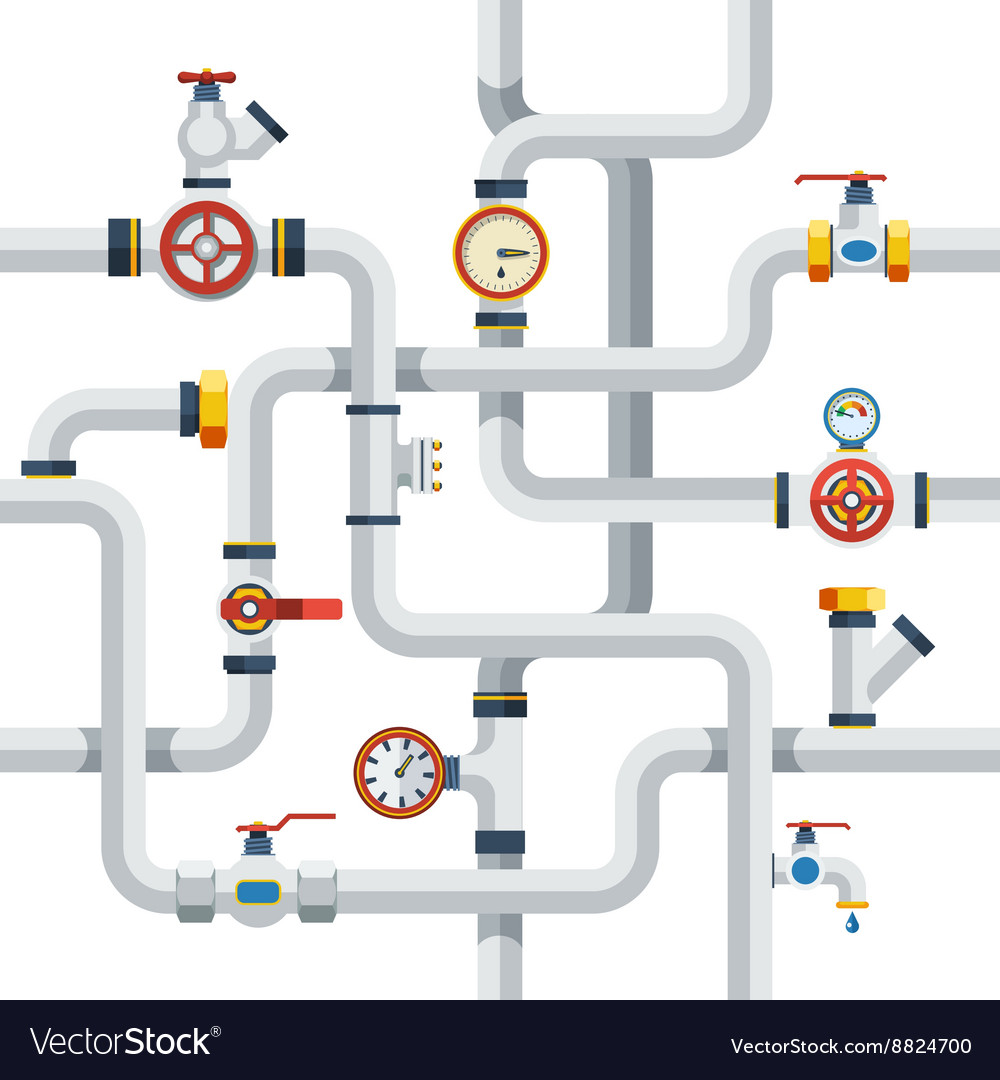 Pipes concept vector