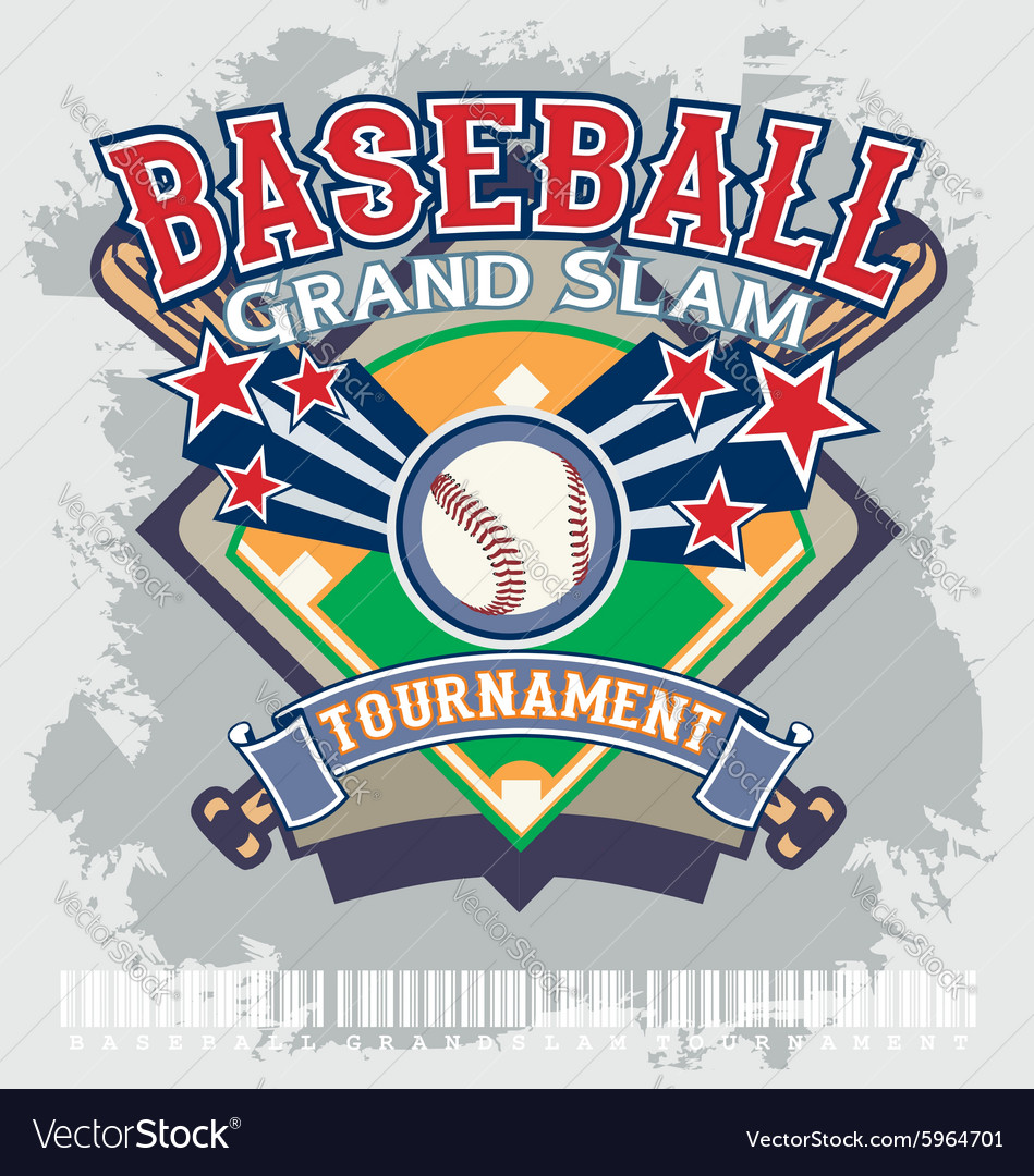 Baseball grandslam tournament vector