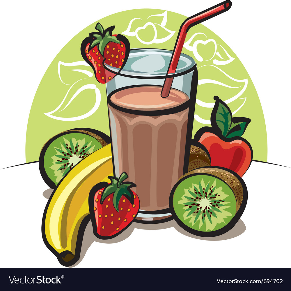 Fruit cocktail vector