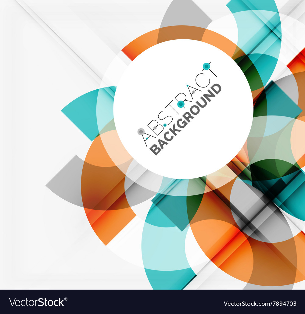 Geometrical background circle shapes vector