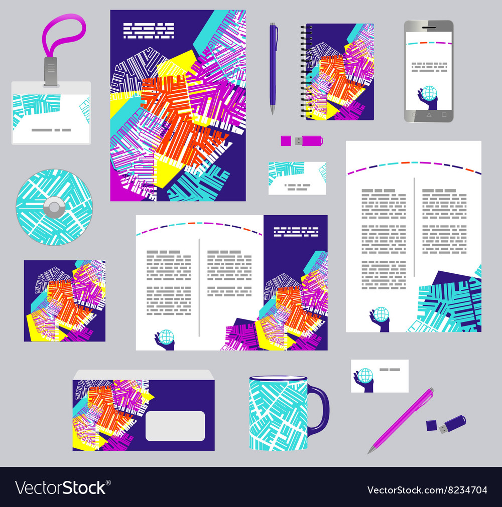 Corporate style business templates set of modern vector