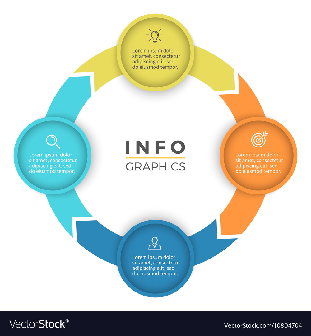 Four steps infographics design element vector
