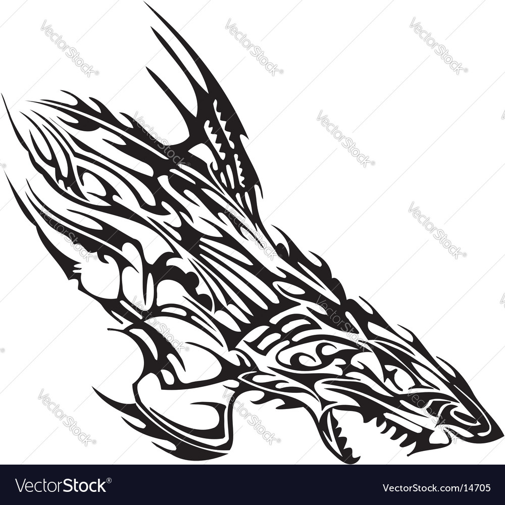 Flaming design vector
