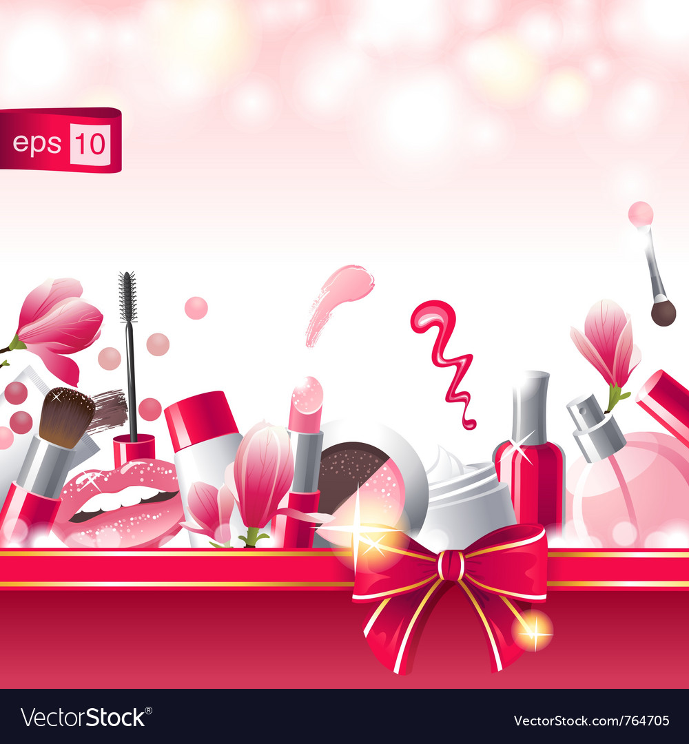 Glamourous makeup background vector