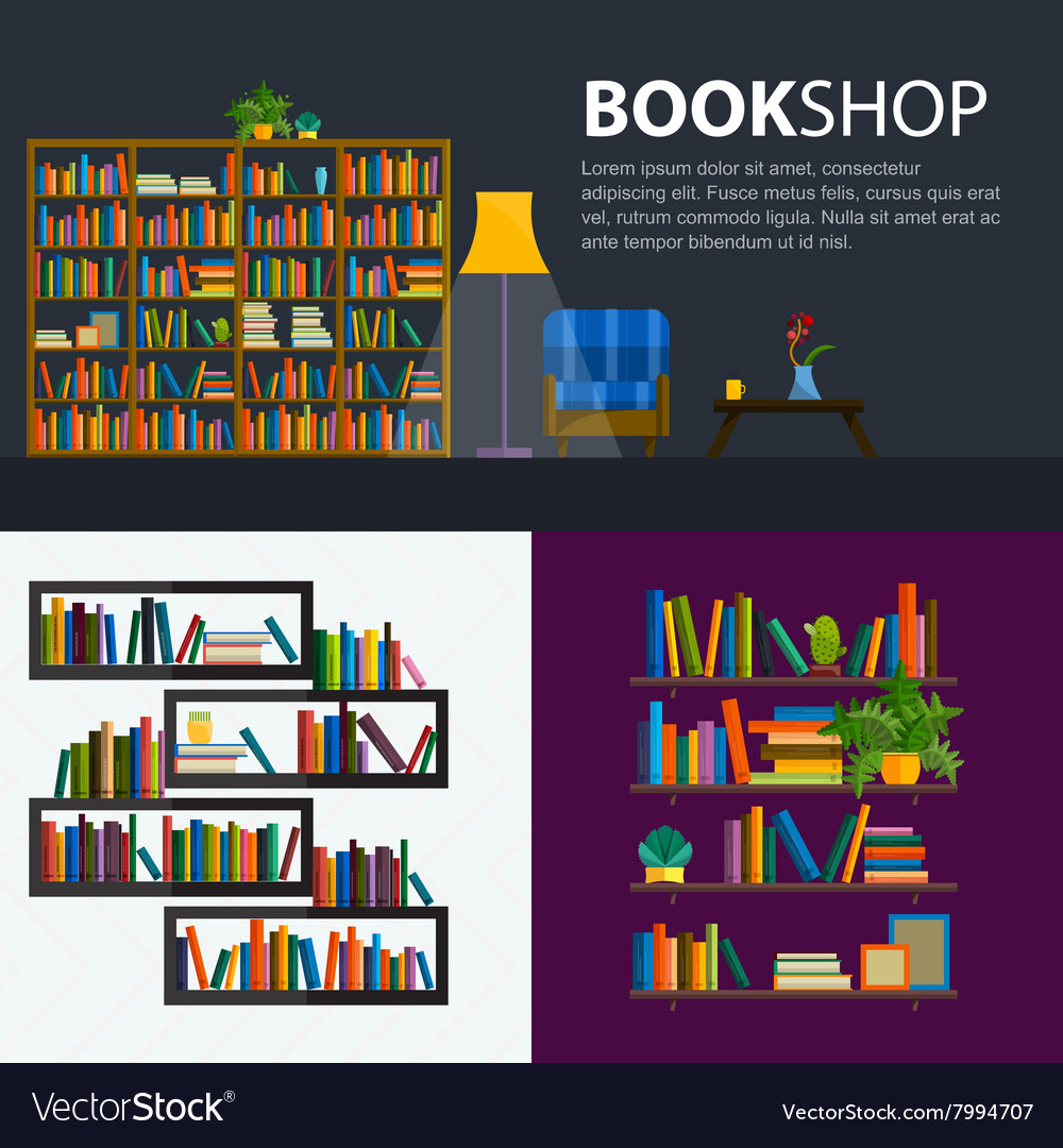 Library bookstore  seamless pattern with books vector