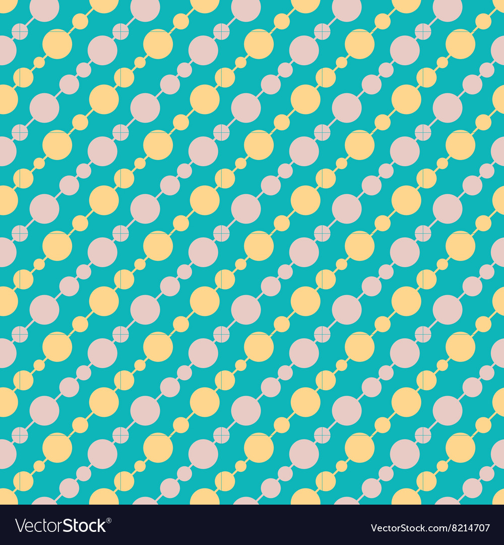 Vintage turquiose seamless pattern vector