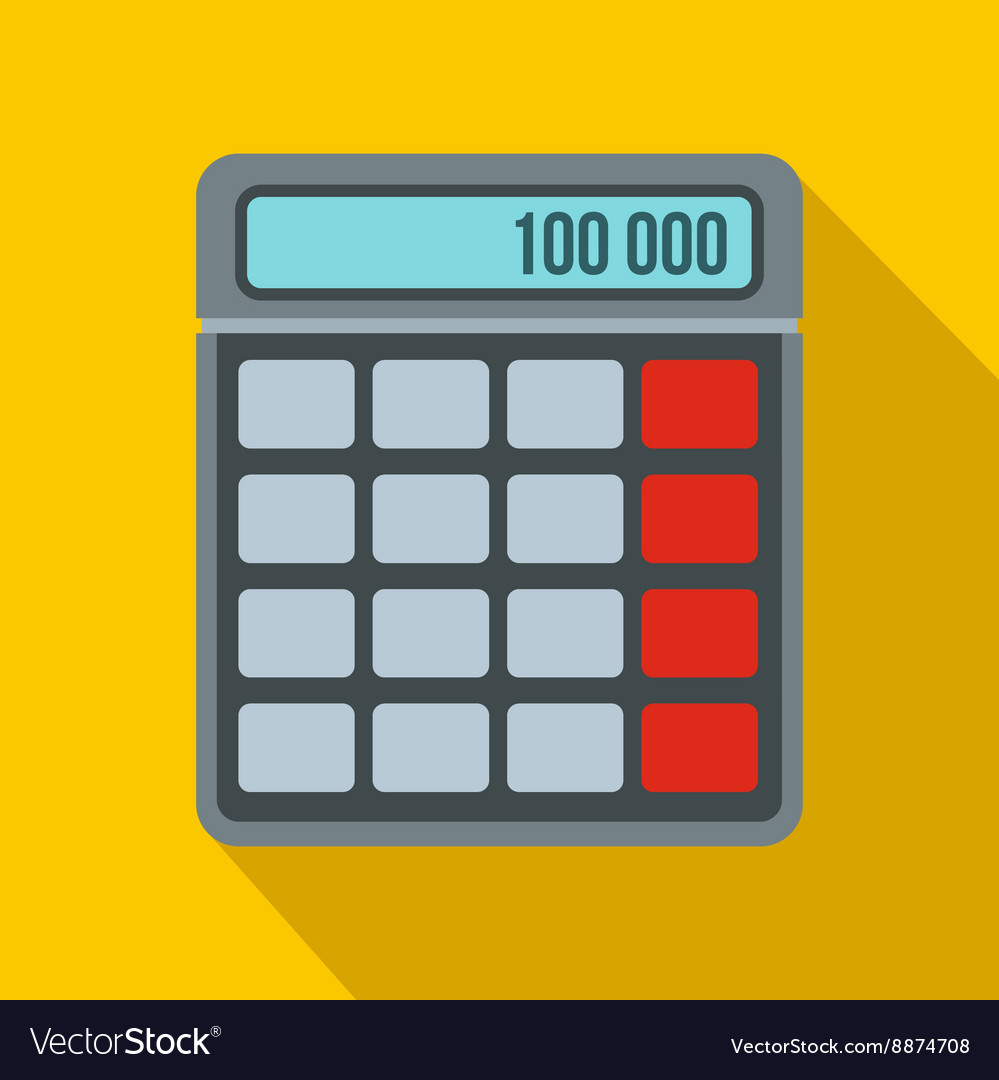 Calculator icon in flat style vector