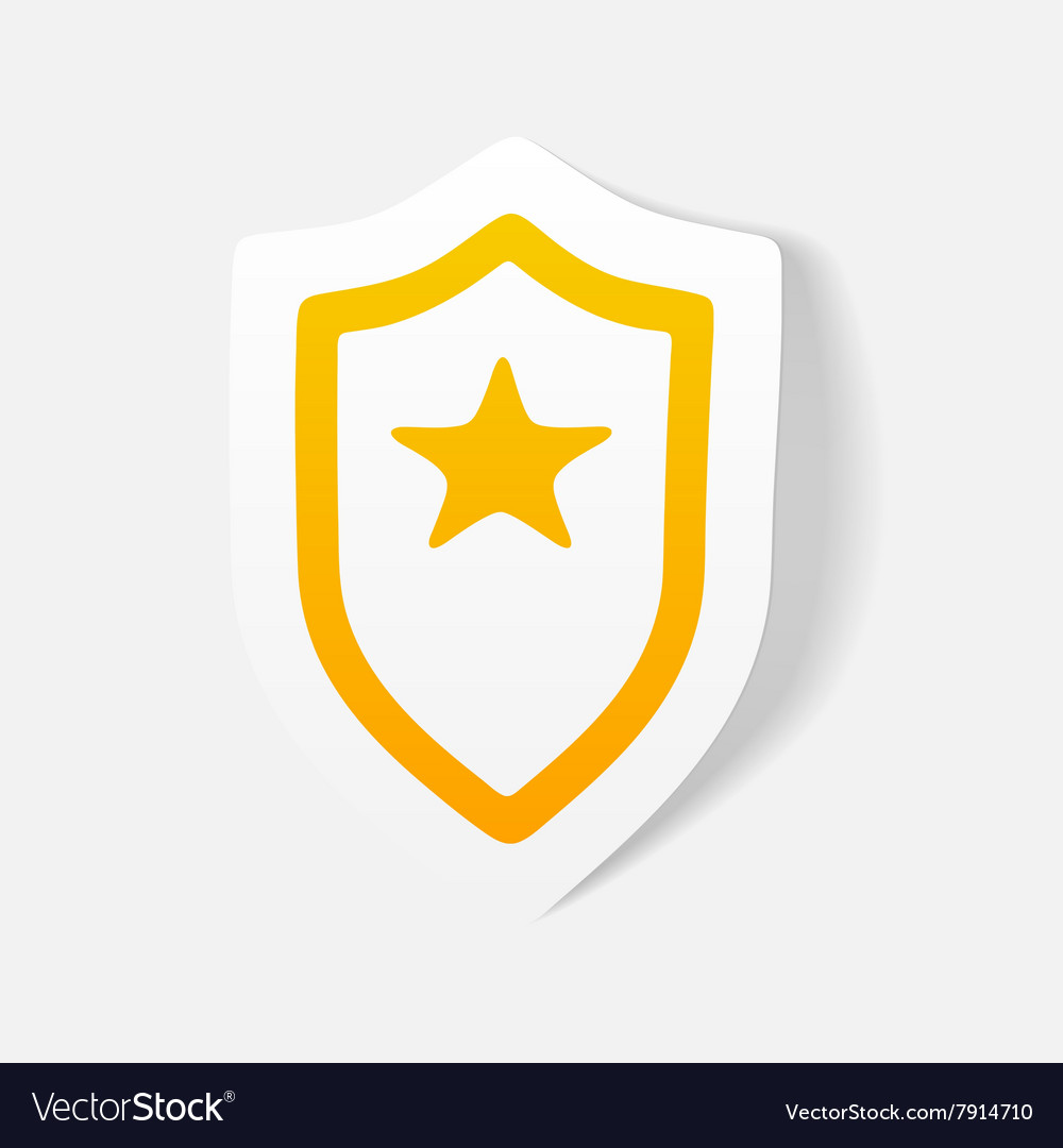 Realistic design element police badge vector