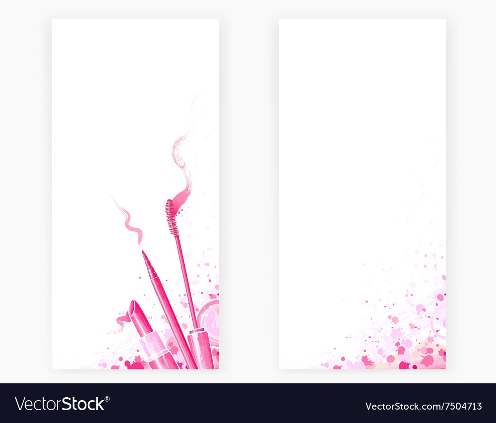 Background with beauty cosmetics vector