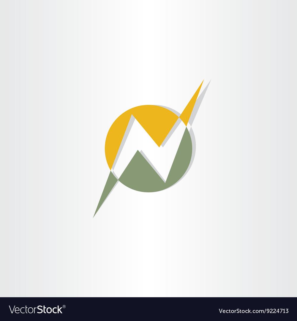 Letter n logo sign icon n logotype vector