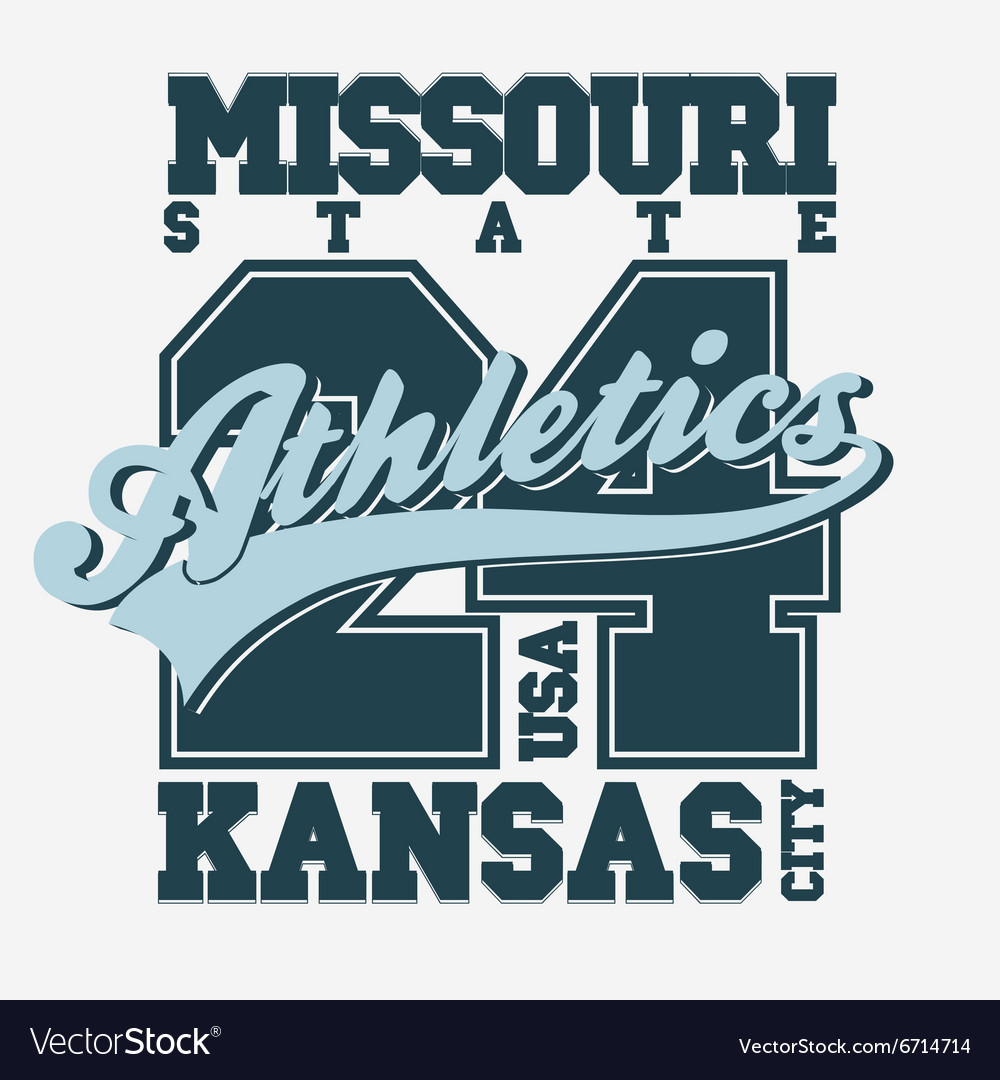 Sport tshirt design kansas city vector