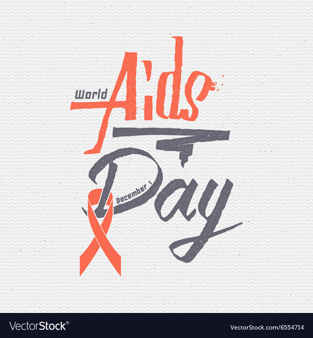 World aids day insignia and labels for any use vector