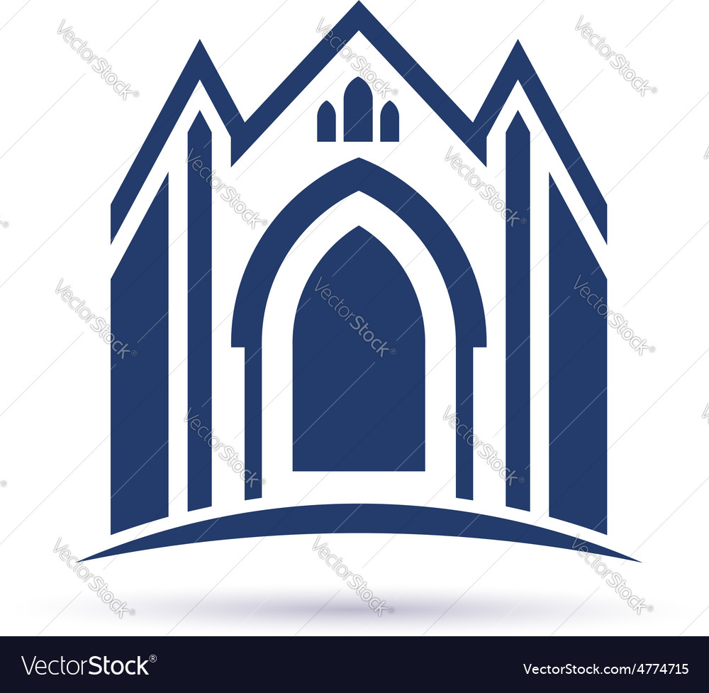 Church facade vector