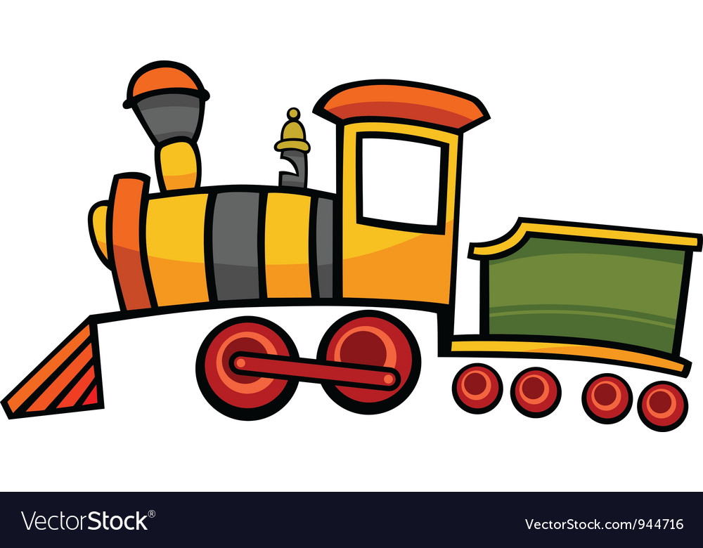 Cartoon train or locomotive vector