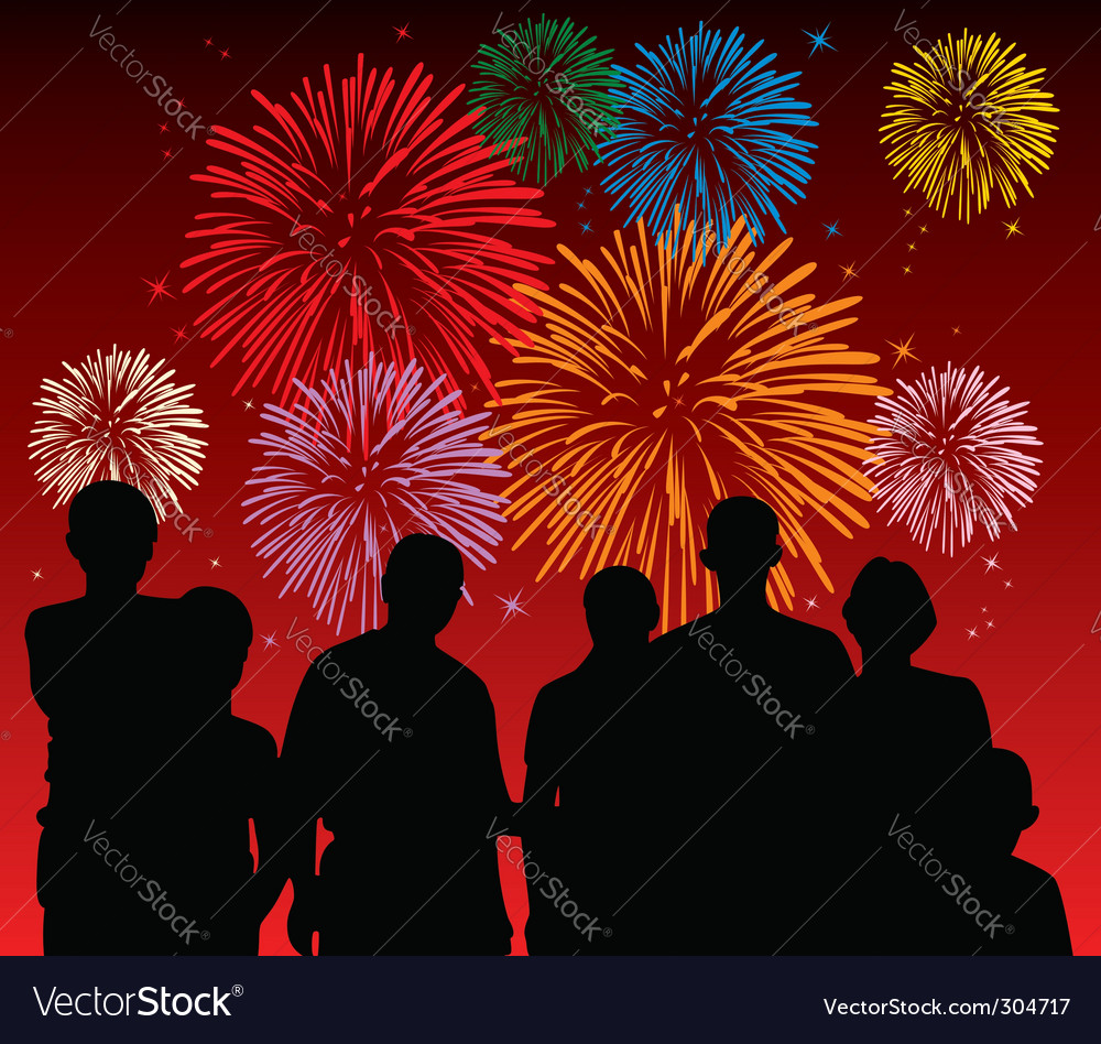 Fireworks display vector