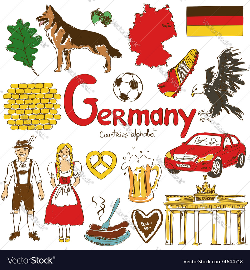 Collection of germany icons vector