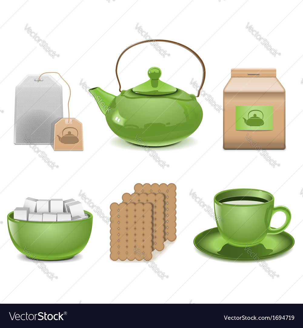 Tea icons vector