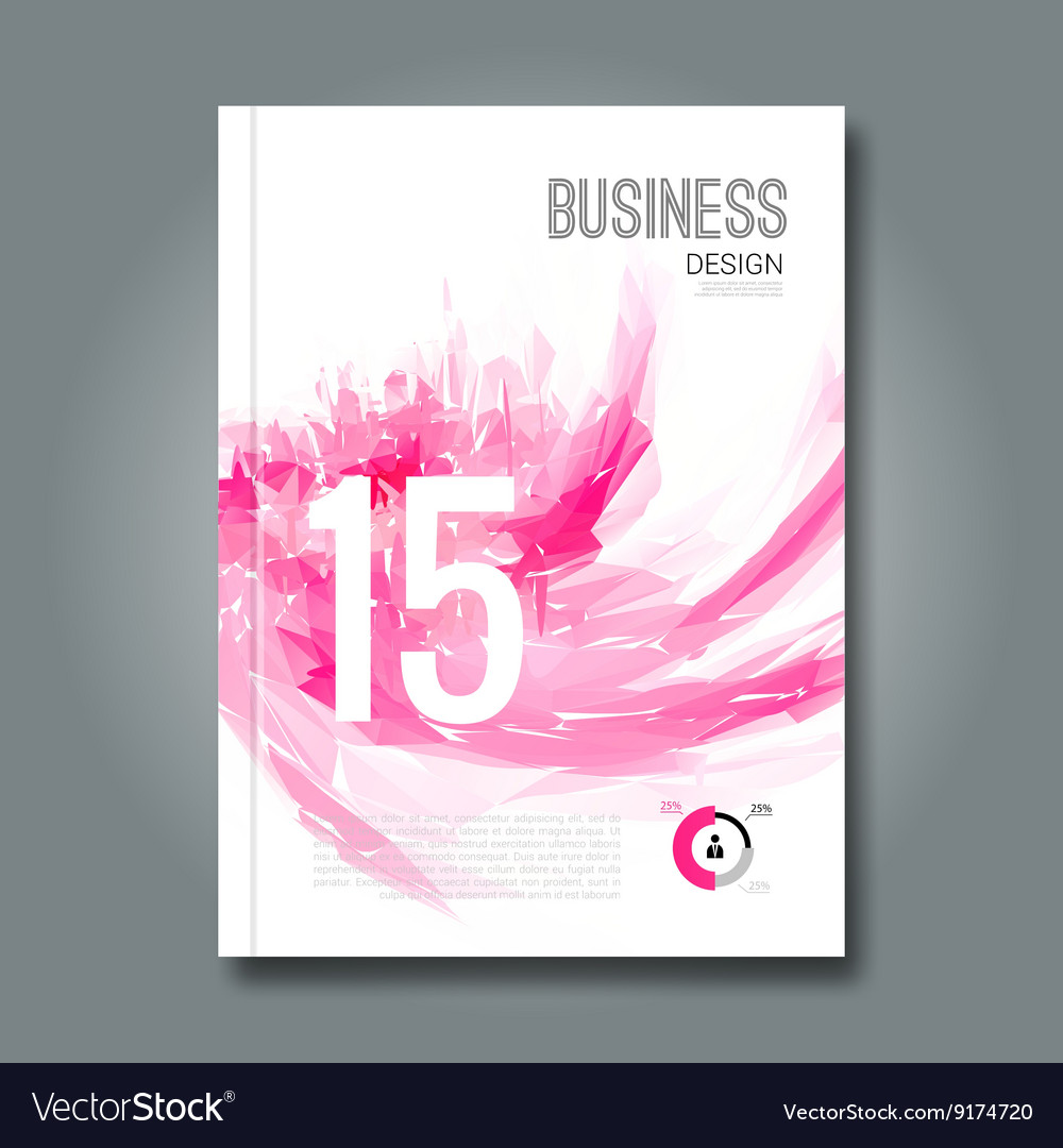 Business design report and spots pink geometric vector