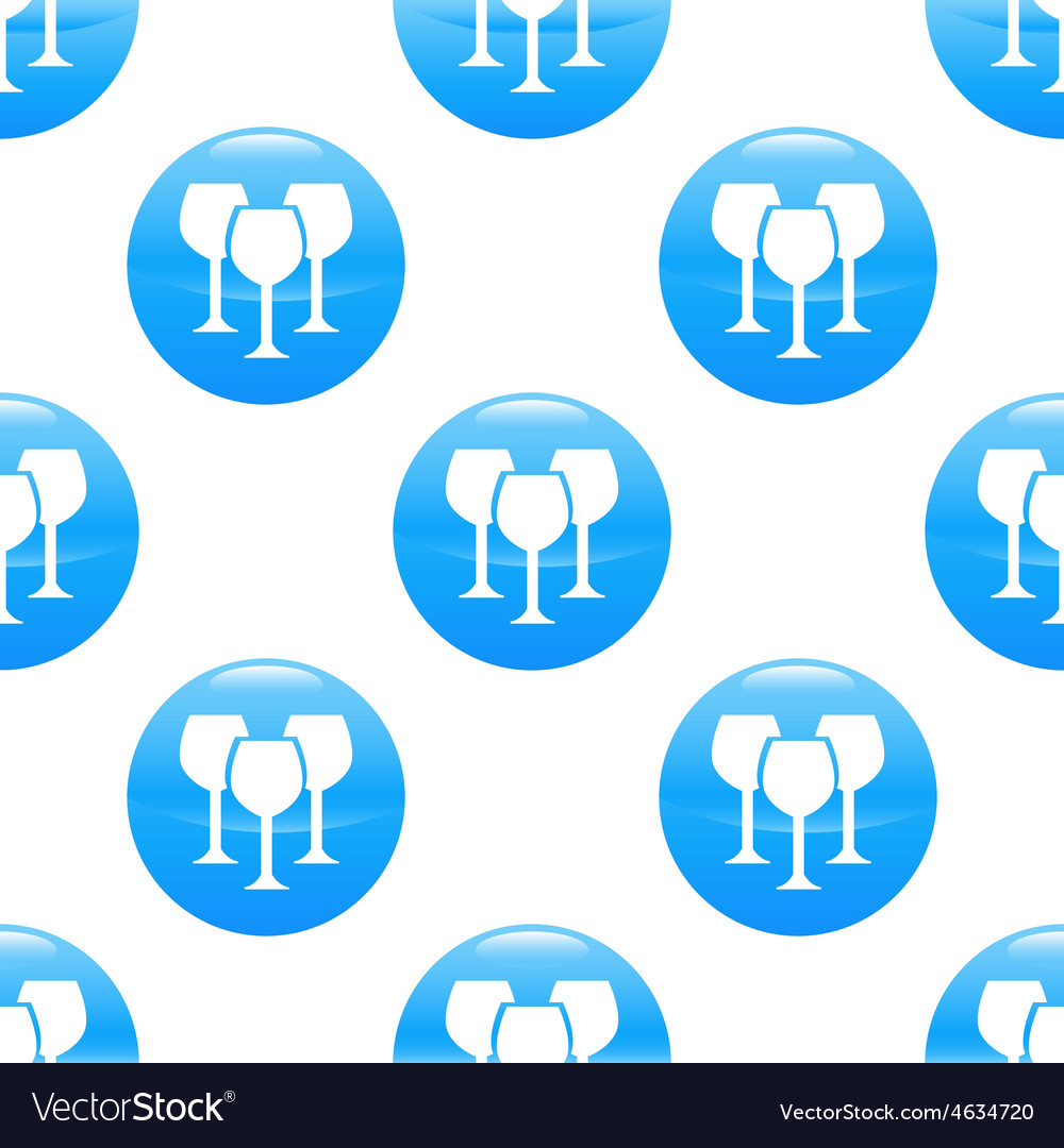 Wine glass sign pattern vector